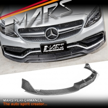 Brabus Style Carbon Fibre Front Bumper Bar Lip Spoiler for Mercedes Benz C63 AMG W205 C205 S205 A205