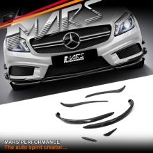A45 Style Carbon Fibre Front bumper side Blade Canards for Mercedes-Benz W176 AMG Package 12-15