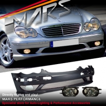 AMG Style Front Bumper Bar for Mercedes-Benz C-Class W203 Sedan & Wagon