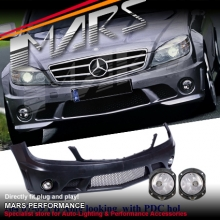 AMG C63 Style Front Bumper Bar for Mercedes-Benz C-Class W204 07-10 Sedan & Wagon