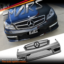 MY11-MY14 Update AMG C63 Style Front Bumper Bar for Mercedes-Benz C-Class W204 Sedan & C204 Coupe