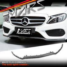 Real Carbon Fibre Front bumper Lip Spoiler cover for Mercedes Benz C205 S205 W205 AMG Package & C43