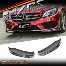 Real Carbon Fibre Front bumper Side Splitter Lip Spoiler for Mercedes Benz C205 S205 W205 AMG Package & C43