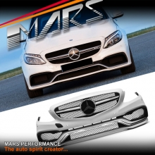 AMG C63 Style Front Bumper bar with Grille for Mercedes-Benz W205 Sedan & S205 Wagon
