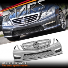 AMG E63 Style Front Bumper bar with DRL lights for Mercedes-Benz W212 Sedan 09-13