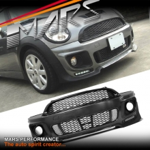 JCW Style Front Bumper bar with Grille for Mini R55 R56 R57 R58 R59 Cooper / Cooper S