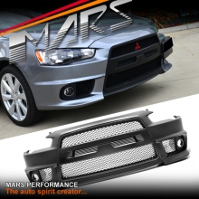 Evolution X Style Front Bumper Bar For Mitsubishi CJ lancer Sedan  & Hatch 07-16