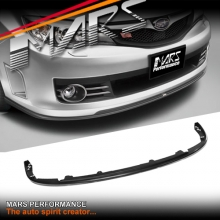Matt Black Front Bumper bar Lip Spoiler for SUBARU STI 08-10 GRB Hatch & Sedan