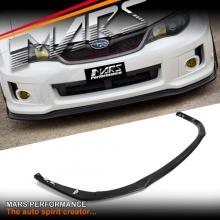 Matt Black Front Bumper bar Lip Spoiler for SUBARU STI & WRX 11-13 GVB Hatch & Sedan