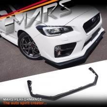 STI Style Matt Black Front Bumper bar lip Spoiler for SUBARU WRX & STi 14-17