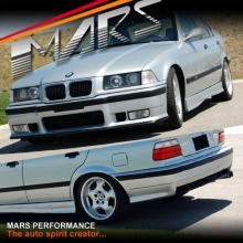 M3 style Front Bumper & Rear Bumper & Side Skirts for BMW E36 Coupe Sedan Convertible