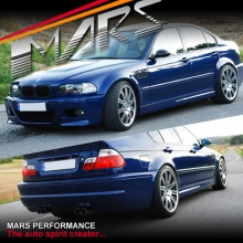 M3 style Front Bumper & Rear Bumper & Side Skirts for BMW E46 4D Sedan