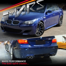 BMW E60 M5 Style Side Skirts & Front Bumper & Rear Bumper with Twin Exhaust 08-09