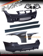 M3 style Front Bumper with Foglamps & Rear Bumper & Side Skirts & Fenders for BMW E90 05-08
