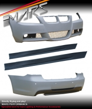 M Tech style Front Bumper with Foglamps & Rear Bumper & Side Skirts for BMW E90 05-08