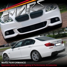 BMW F10 10-13 M Tech Sports Style Side Skirts & Front Bumper & Rear Bumper with Single Exhaust Outlet