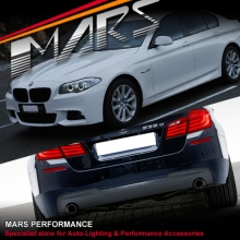 BMW F10 10-13 M Tech Sports Style Side Skirts & Front Bumper & Rear Bumper with Twin Exhaust Outlet