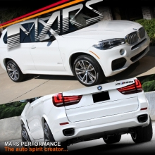 M Tech / M Sports Style Front & Rear Bumper Bar with Side Skirts & Wheel Arches for X5 F15