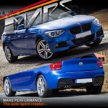 M135i M Tech Sports Style Front & Rear Bumper Bar & Side skirts for BMW 1 Series F20 Pre LCI Hatch