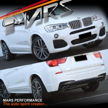 M Tech / M Sports Style Front & Rear Bumper Bar with Side Door Moulds & Wheel Arches for X3 F25 LCI 2014+