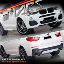 M Tech / M Sports Style Front & Rear Bumper Bar with Side Door Moulds & Wheel Arches for X4 F26