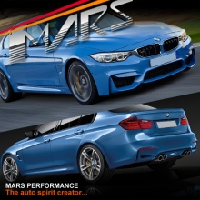 F80 M3 Style Side Skirts & Front Bumper & Rear Bumper for BMW 3-Series F30 Sedan