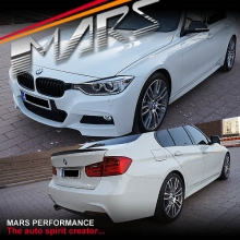 BMW F30 M Tech Sports Style Side Skirts & Front Bumper & Rear Bumper with Single Exhaust Outlet