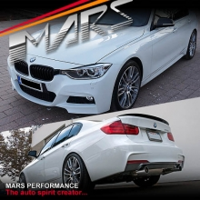 BMW F30 M Tech Sports Style Side Skirts & Front Bumper & Rear Bumper with Twin Exhaust Outlet for 335i