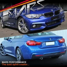 BMW F32 M Tech Sports Style Side Skirts & Front Bumper & Rear Bumper with Twin Exhaust Outlet for 435i