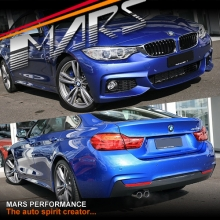 BMW F32 M Tech Sports Style Side Skirts & Front Bumper & Rear Bumper with Single Exhaust Outlet