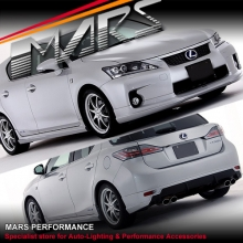 Tom's Style Front & Rear Bumper Lip with Side Skirts for Lexus CT200H 11-14 Bodykit