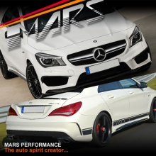 AMG CLA45 Style Front & Rear Bumper bar & Side Skirts for Mercedes-Benz CLA Class W117 C117 13-16
