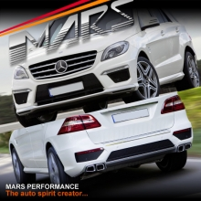 AMG ML63 Style Front & Rear Bumper bar & Side Fenders for Mercedes-Benz ML Class W166
