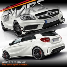 AMG A45 Style Front & Rear Bumper bar & Side Skirts for Mercedes-Benz A Class W176 Hatch 12-15