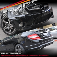 AMG C63 Style Front & Rear Bumper bar & Side Skirts for Mercedes-Benz W204 Sedan 07-10 With Single Exhuast Outlet