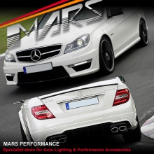 AMG C63 Style Front & Rear Bumper bar & Side Skirts for Mercedes-Benz W204 11-14 Sedan With Twin Exhuast Outlet