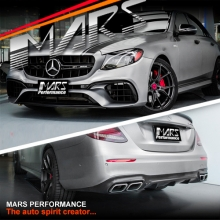 E63-S AMG Style Front Bumper bar & Rear Diffuser with Exhaust tips for Mercedes-Benz W213 Sedan