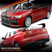 Evolution Style Front & Rear Bumper Bar & Side Skirts for Mitsubishi Lancer CJ CF Sedan 07-17 with Dual Exhaust