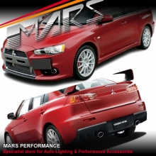 Evolution X Style Front & Rear Bumper Bar & Side Skirts for Mitsubishi Lancer CJ Sedan 07-16 with Exhaust
