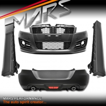 Sports style Front Bumper with DRL & Rear Bumper & Side Skirts for SUZUKI SWIFT FZ 11-16
