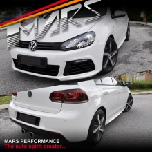 R-20 Style Front & Rear Bumper Bar with Side Skirts & Grill for VolksWagen VW Golf VI MK-6 09-12