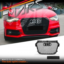 Gloss Black RS1 Honeycomb Style Front Bumper Bar Grille for AUDI A1 8X 2010-2014