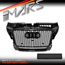 Gloss Black QUATTRO RS3 Style Front Bumper Bar Grille for AUDI A3 8P 09-12