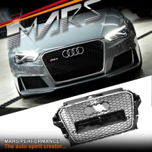 Chrome Black Honeycomb RS3 Style Front Bumper Bar Grille for AUDI A3 S3 8V 13-16