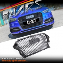 Gloss Black Honeycomb RS Style Front Bumper Bar Grille for AUDI A3 8V 13-16