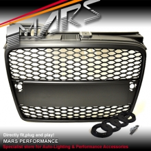 MATT BLACK RS HONEY-COM STYLE FRONT GRILLE FOR AUDI A4 B7