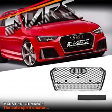 Chrome Black QUATTRO RS4 Style Front Bumper Bar Grille for AUDI A4 B9 MY16+