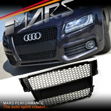 Matt Black Honeycomb RS5 RS Style Front Bumper Bar Grille for AUDI A5 8T 08-12