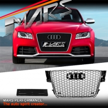 Chrome Black Honeycomb RS5 Style Front Bumper Bar Grille for AUDI A5 8T 08-12
