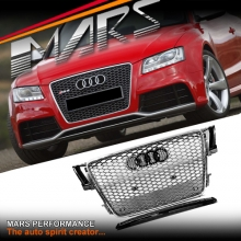 Chrome Silver Honeycomb RS5 Style Front Bumper Bar Grille for AUDI A5 8T 08-12
